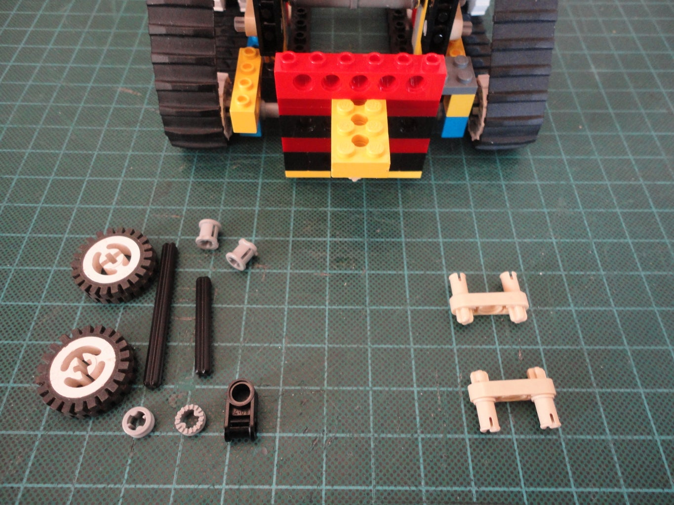 Battery Compartment and Castor