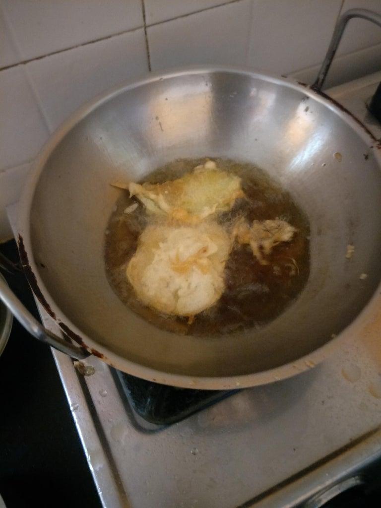 Frying the Tempura