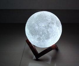 与遥控的月亮灯