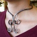 Jointed mild-steel necklace