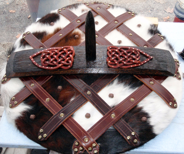 Make A Viking Shield From A Wine Barrel