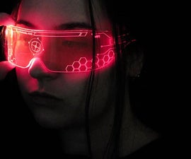 Futuristic Halloween Fancy Dress - Laser Cut Cyber Visor