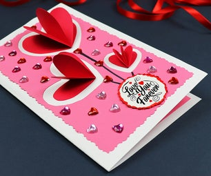 DIY Pop Up Hearts Valentine's Day Card