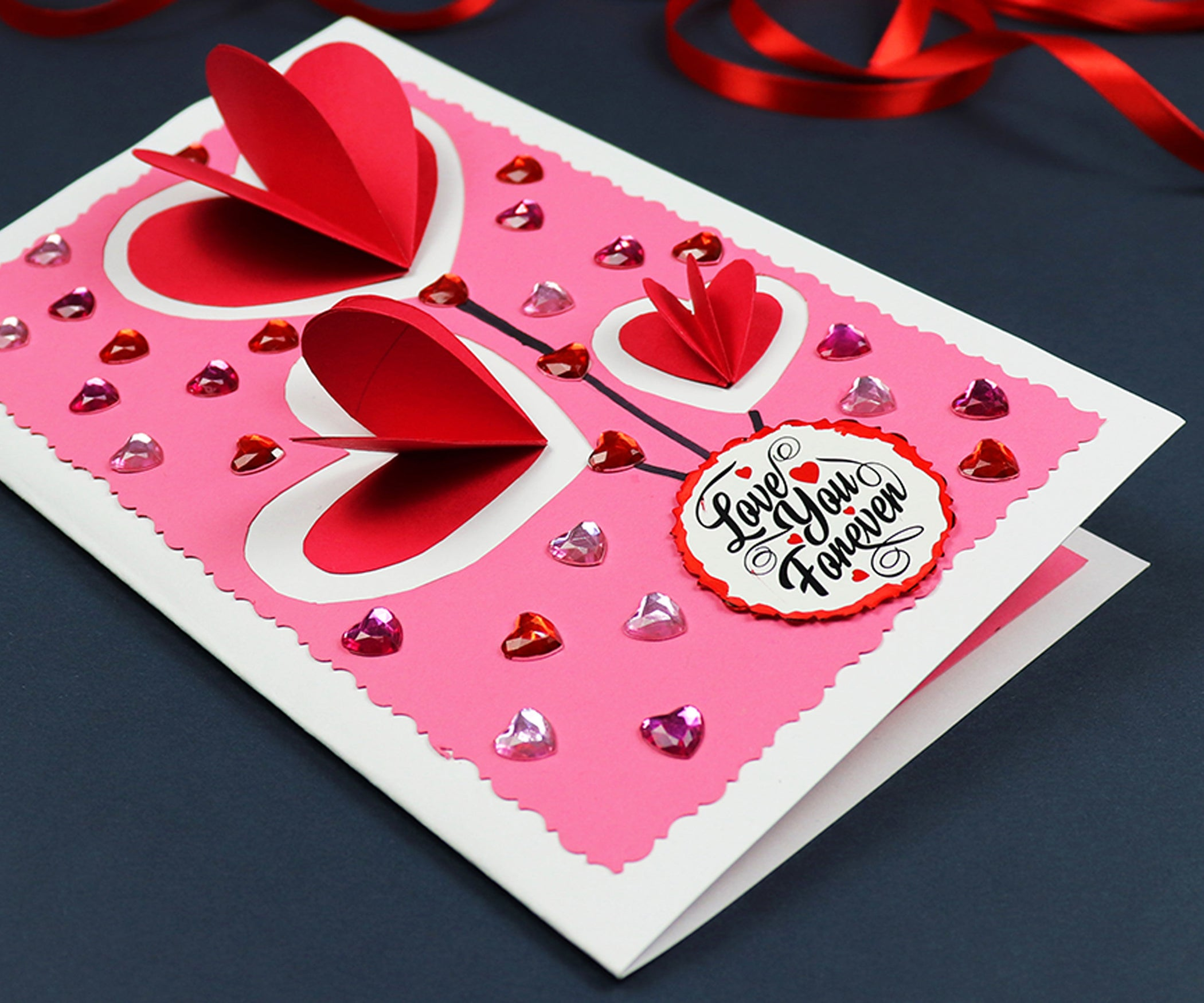 Diy Pop Up Hearts Valentine S Day Card 7 Steps With Pictures Instructables