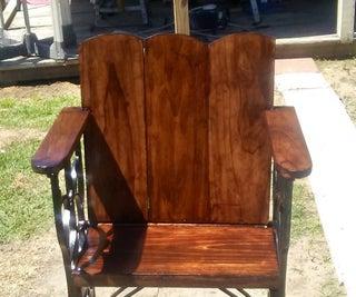 Antique Sewing Machine Frame Chair