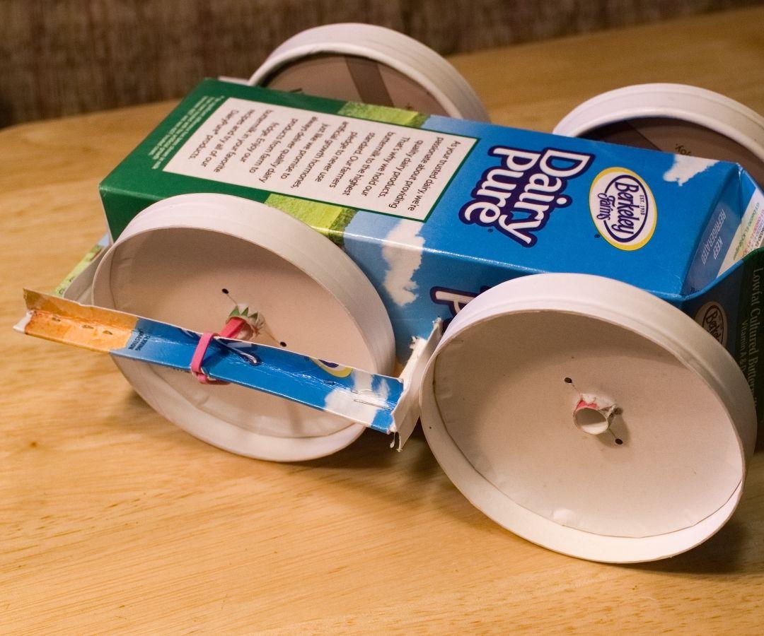 Trash Rubber Band Race Car