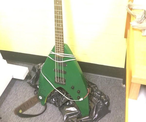 Hybrid Six String Bass With Midi Capabilities