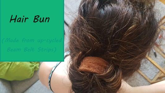 Hair Bun: Up-cycling Beam Belt Strips