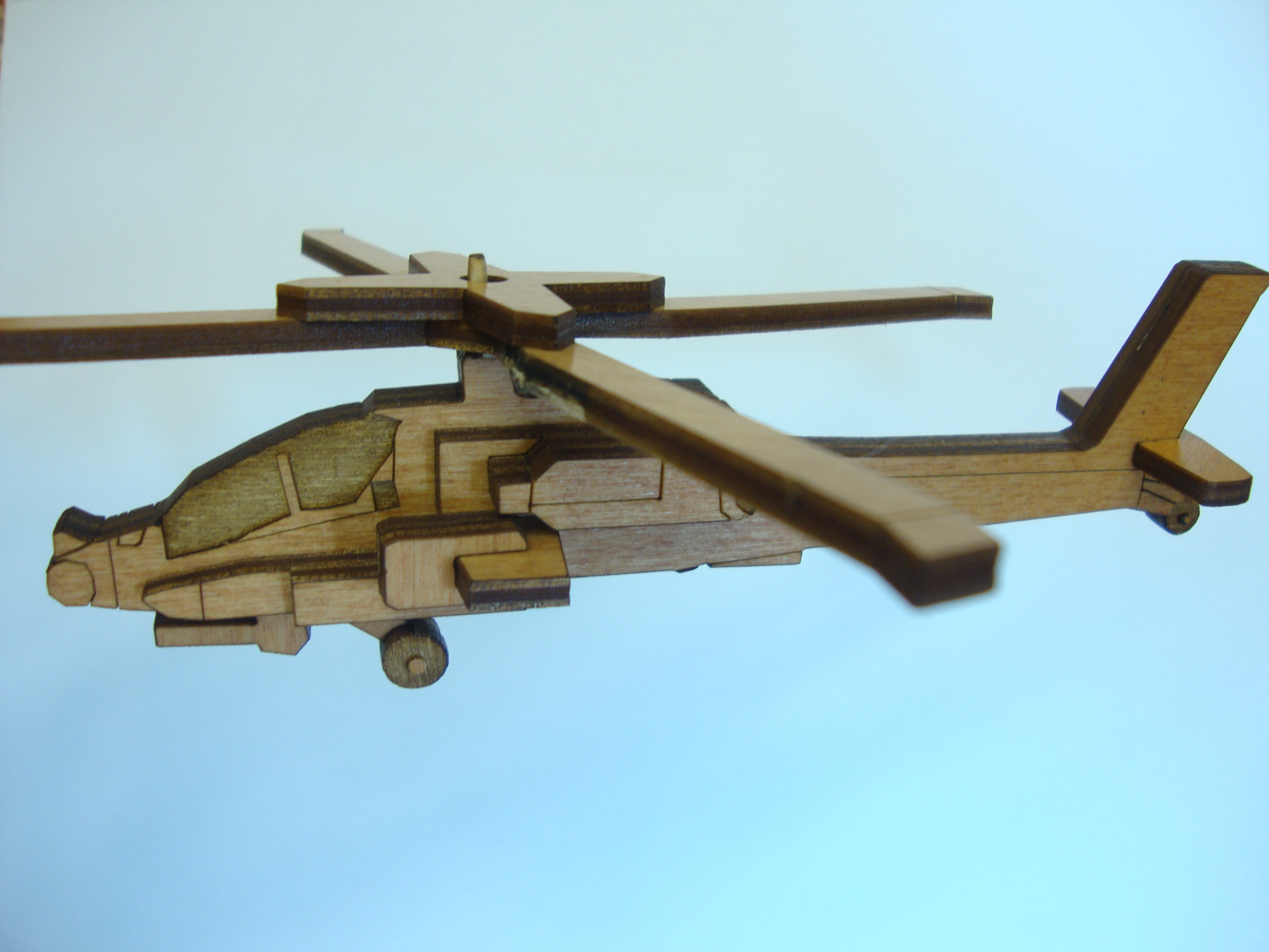 Laser-Cut Apache Helicopter