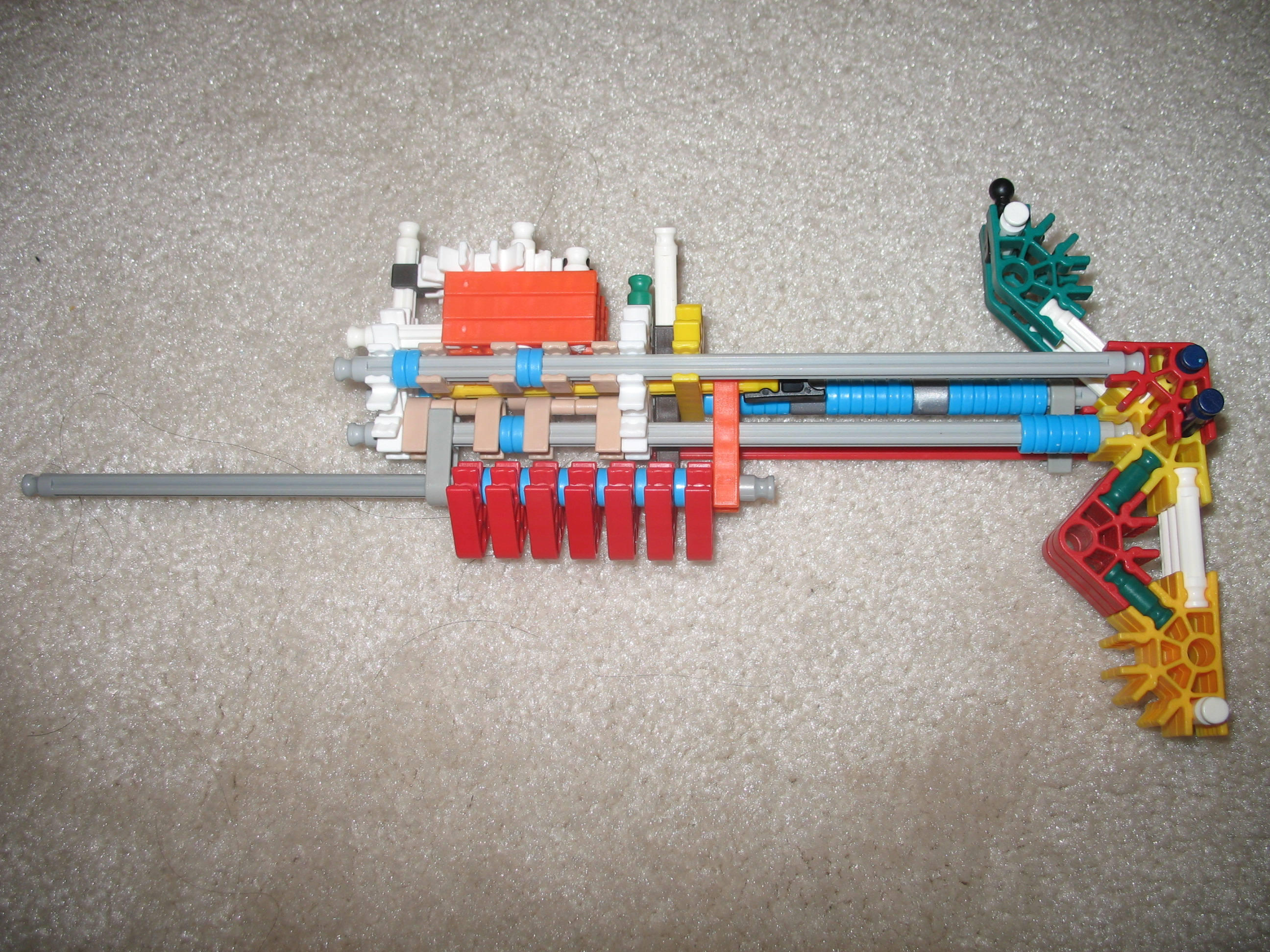 pump-action knex gun