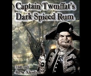 Twmffat上尉黑色五香朗姆酒