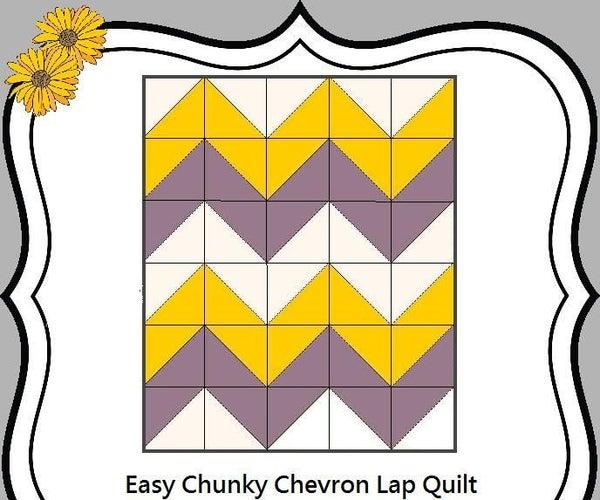 Easy Chunky Chevron Quilt