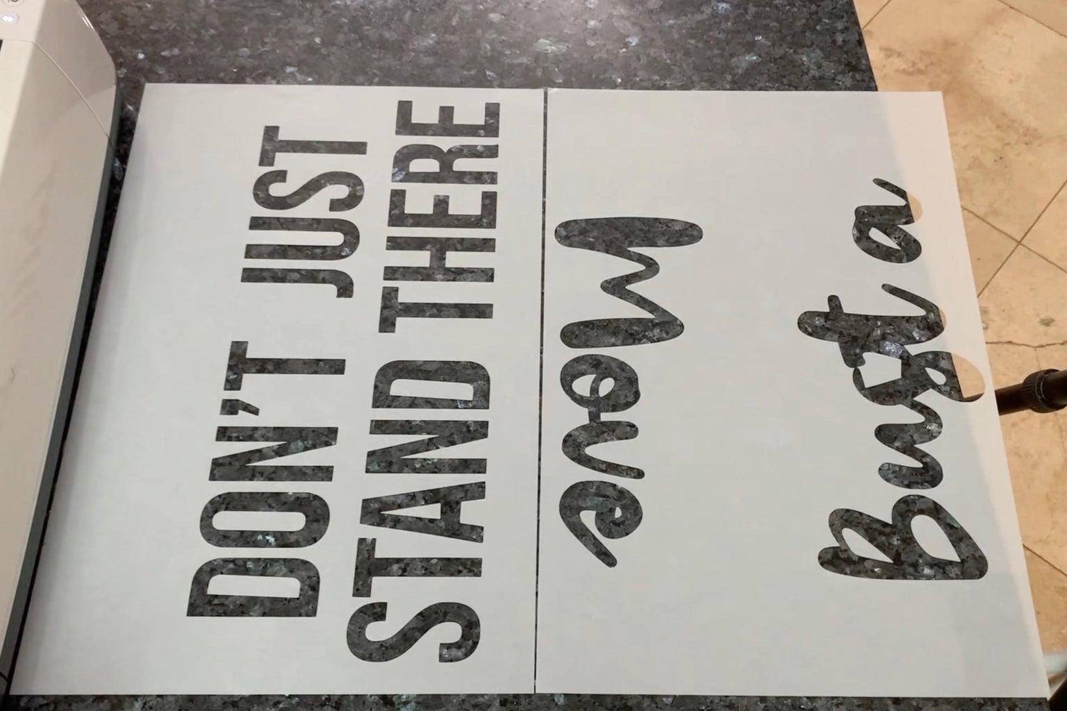 Design and Cut Stencil