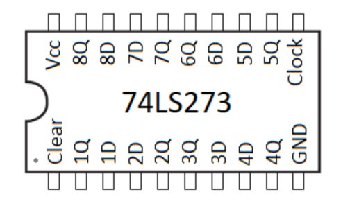 74LS273 Pinout: