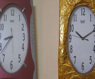 Gold Coating Old Wall Clock