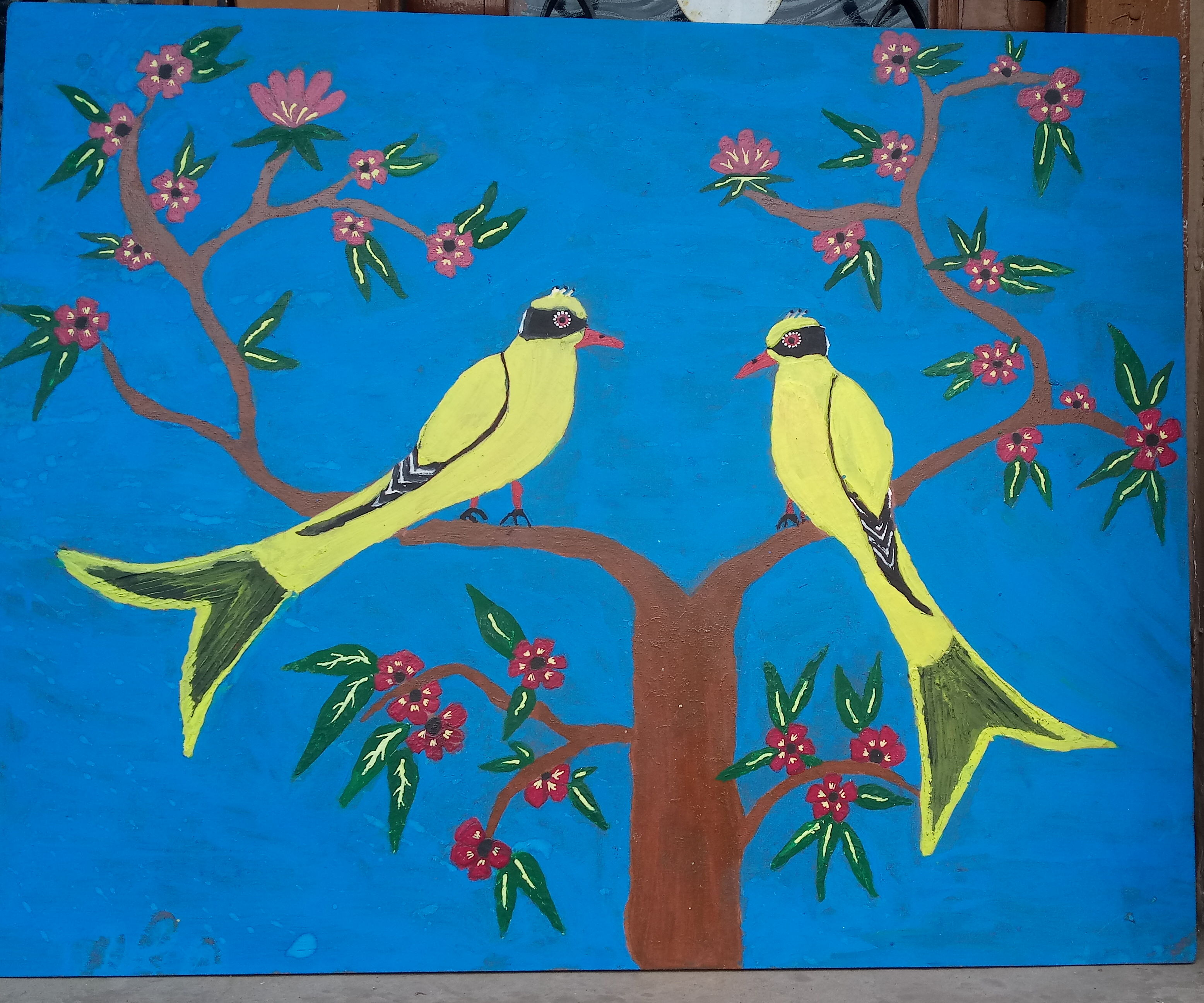 Painting on Wood Board