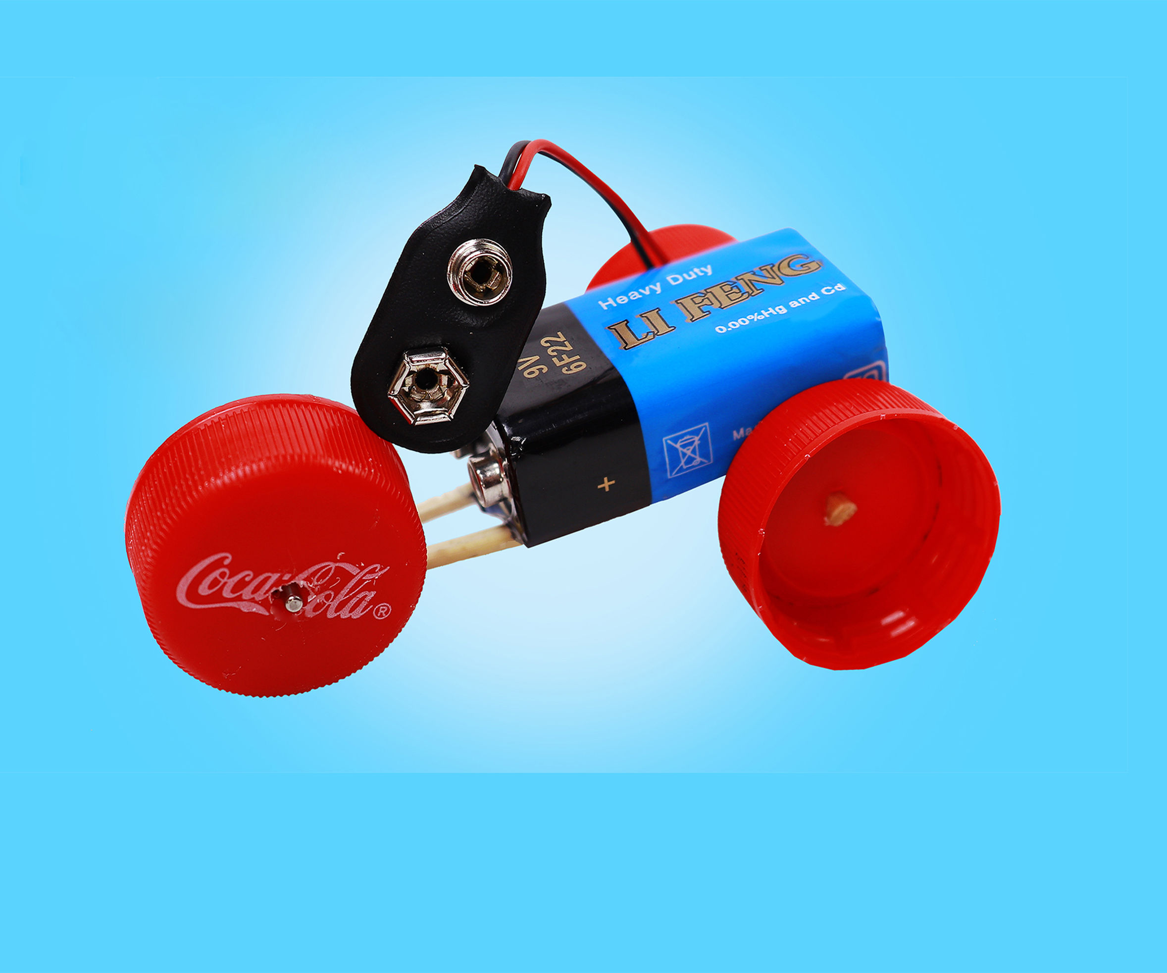 Recycling Bottle Caps Into Electric Car