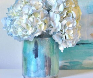 Watercolor Vase DIY