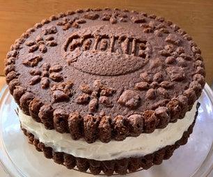 大巧克力三明治饼干蛋糕