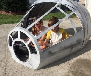 DIY Star Wars Millennium Falcon Cockpit Playhouse