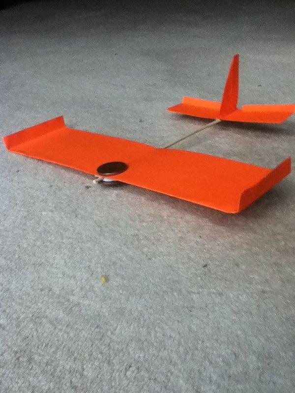 Card Super Glider Plane