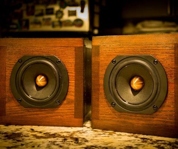 Mahogany Cube Speakers