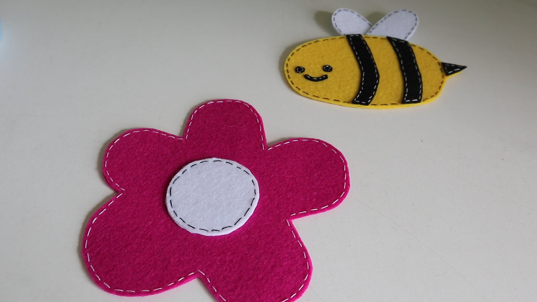 Sewing a Bumble Bee and Flower