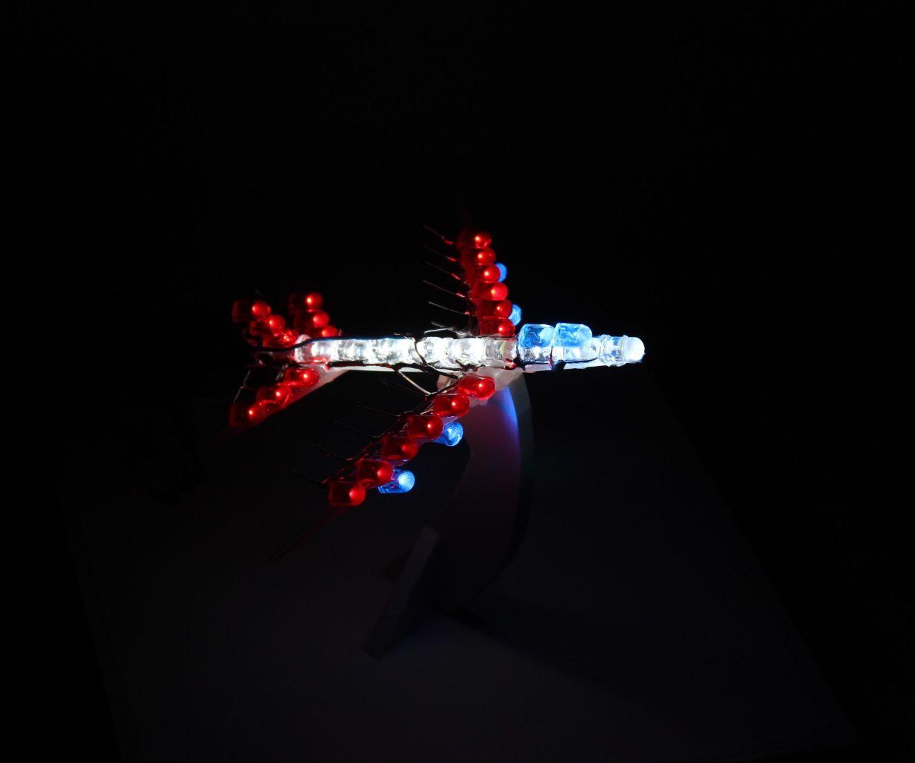 Handmade LED Airplane