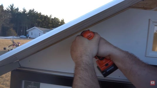 Install the Front Gable (with the Window on It) and Secure It.