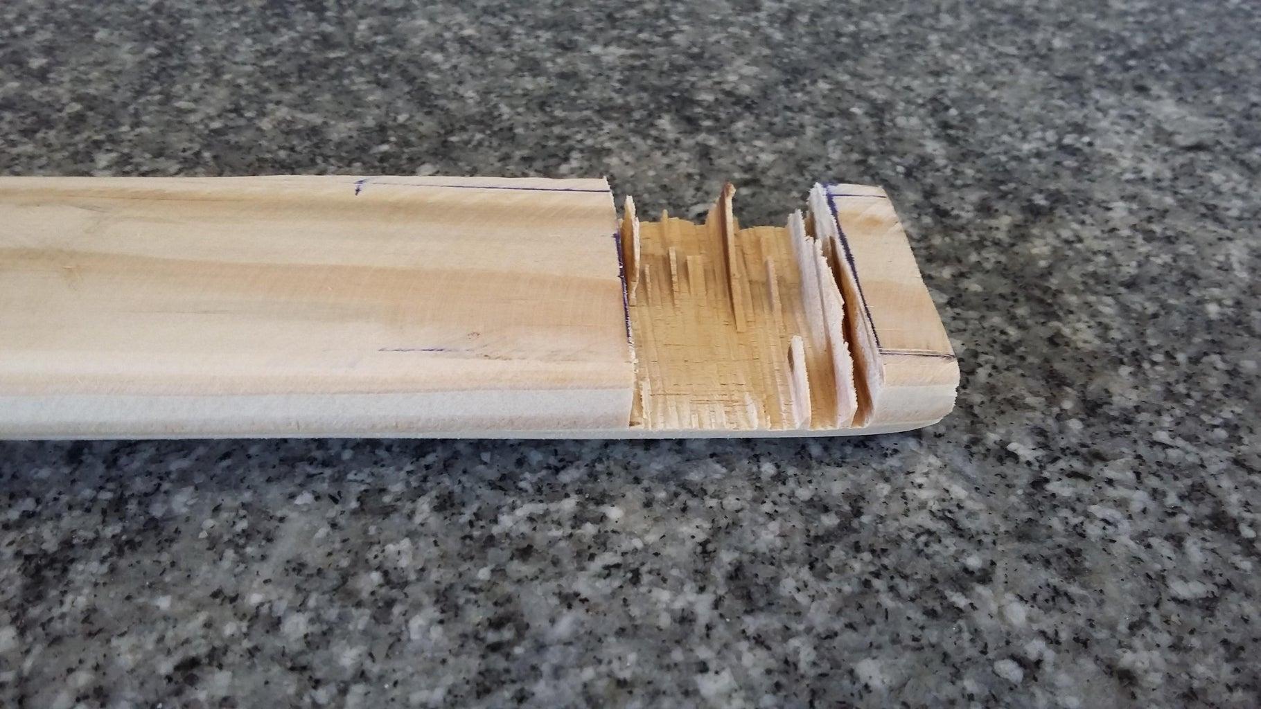 Preparing the Wood for Tuning Screws