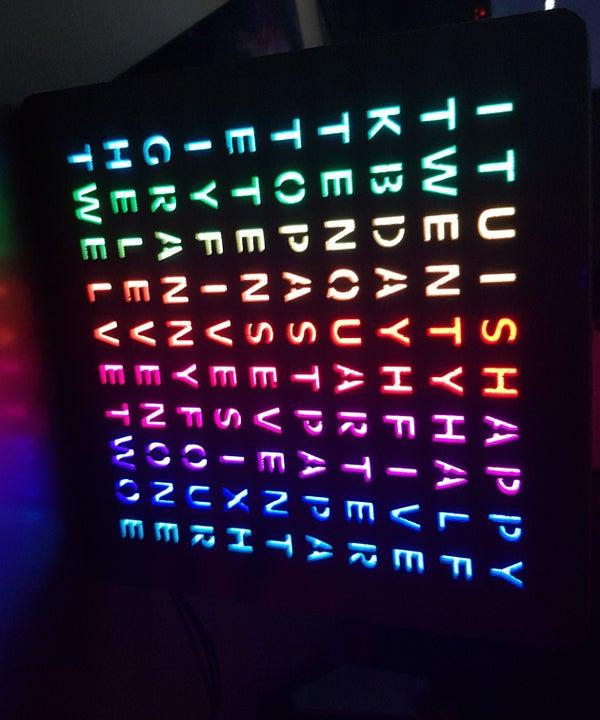 Design and 3D Print an RGB Word Clock