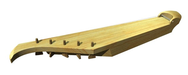 Homemade Traditional Finnish 5-string Kantele