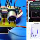 Reading Ultrasonic Sensor (HC-SR04) Data on a 128×128 LCD and Visualizing It Using Matplotlib
