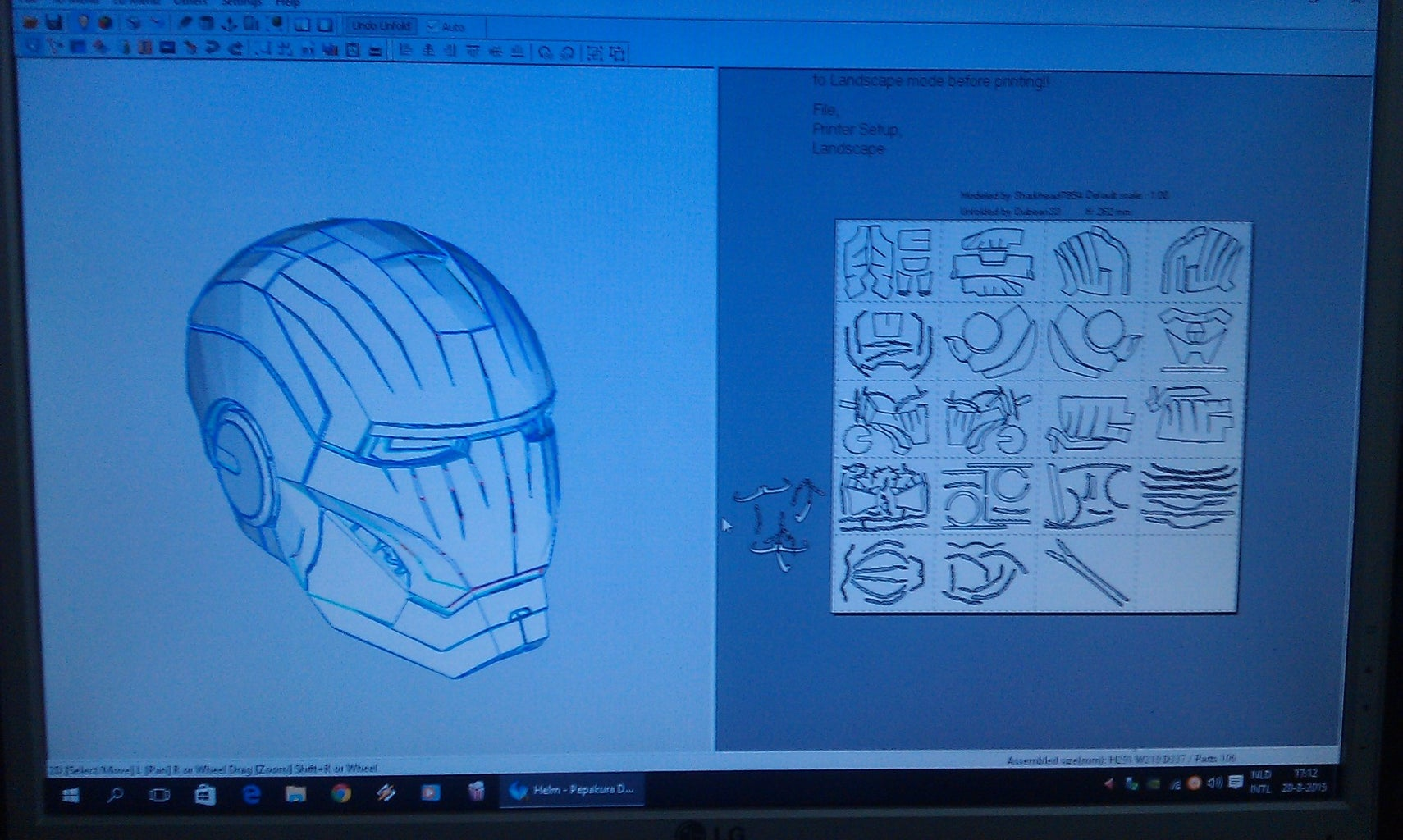 Print the Templates With Pepakura Designer and Cut Out