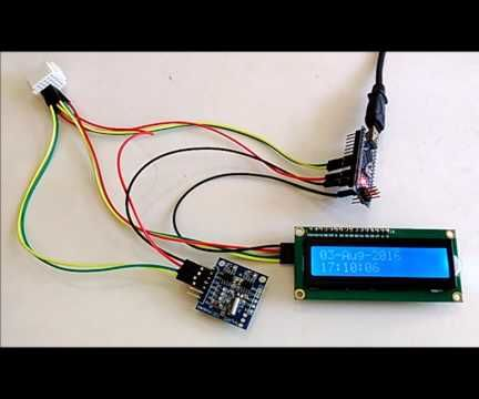 Arduino Nano: Show Date/Time From DS1307 Real Time Clock(RTC) on I2C 2 X 16 LCD Display With Visuino