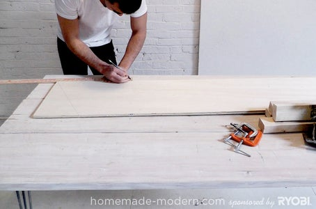Measure, Mark and Clamp the Two Boards Together