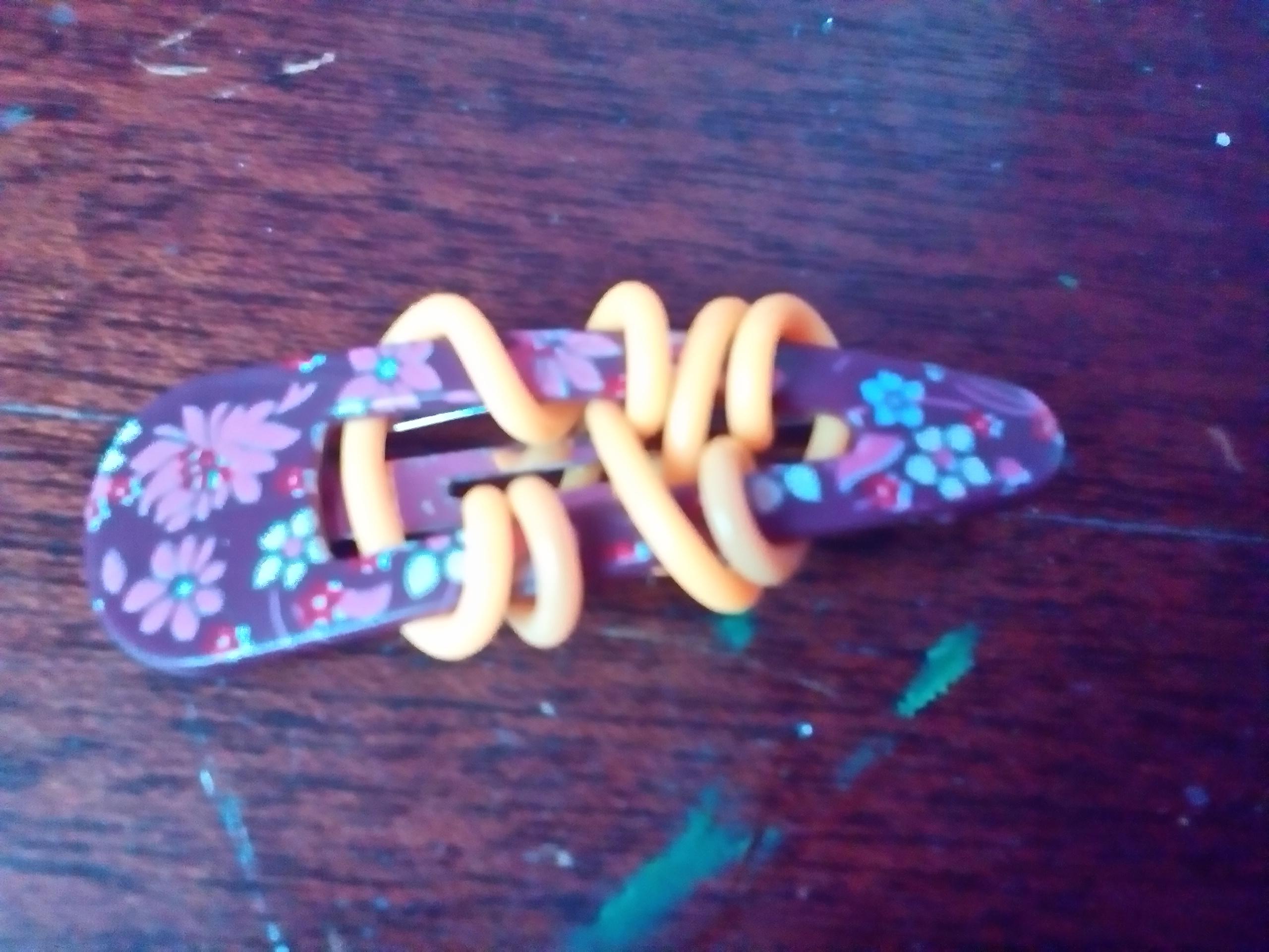cute diy hair clip add on