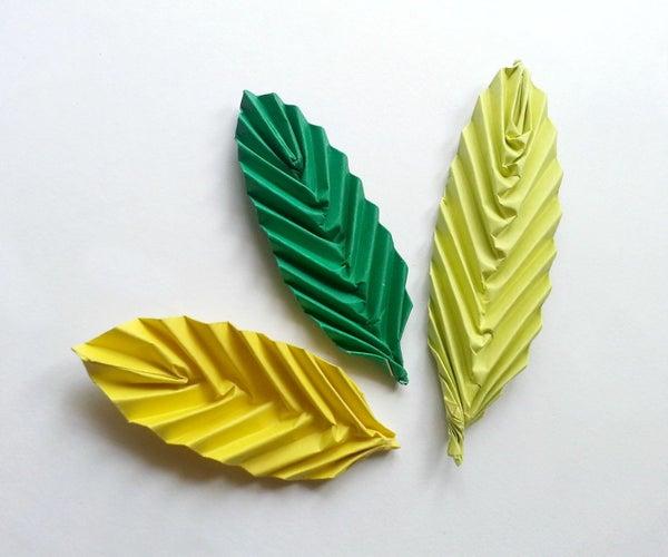 DIY Origami Leaf