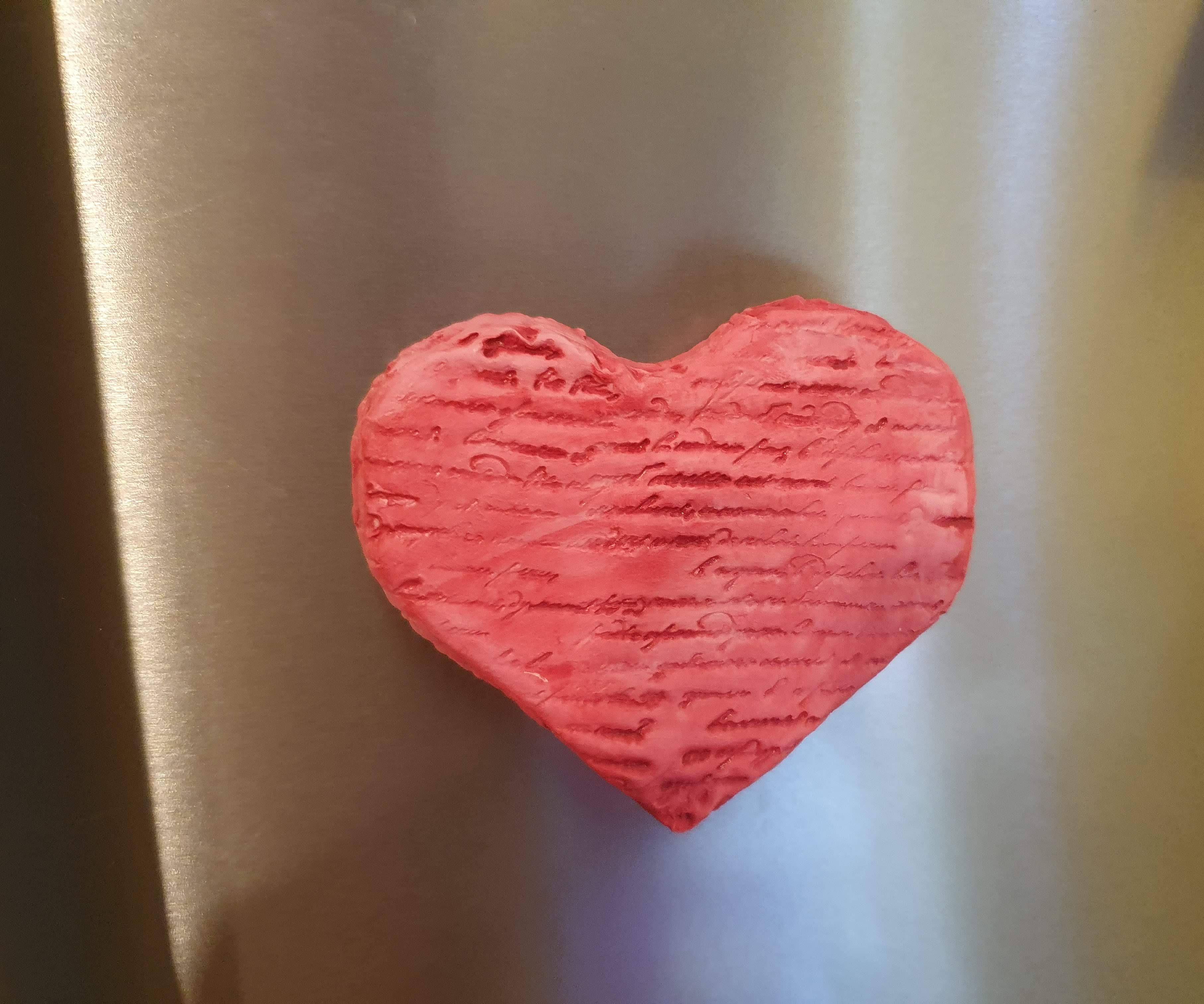 Heart Shaped Refigerator Magnet