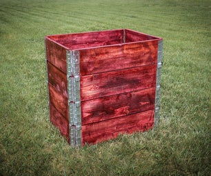 Simple Stackable Compost Bin From Pallet Collars
