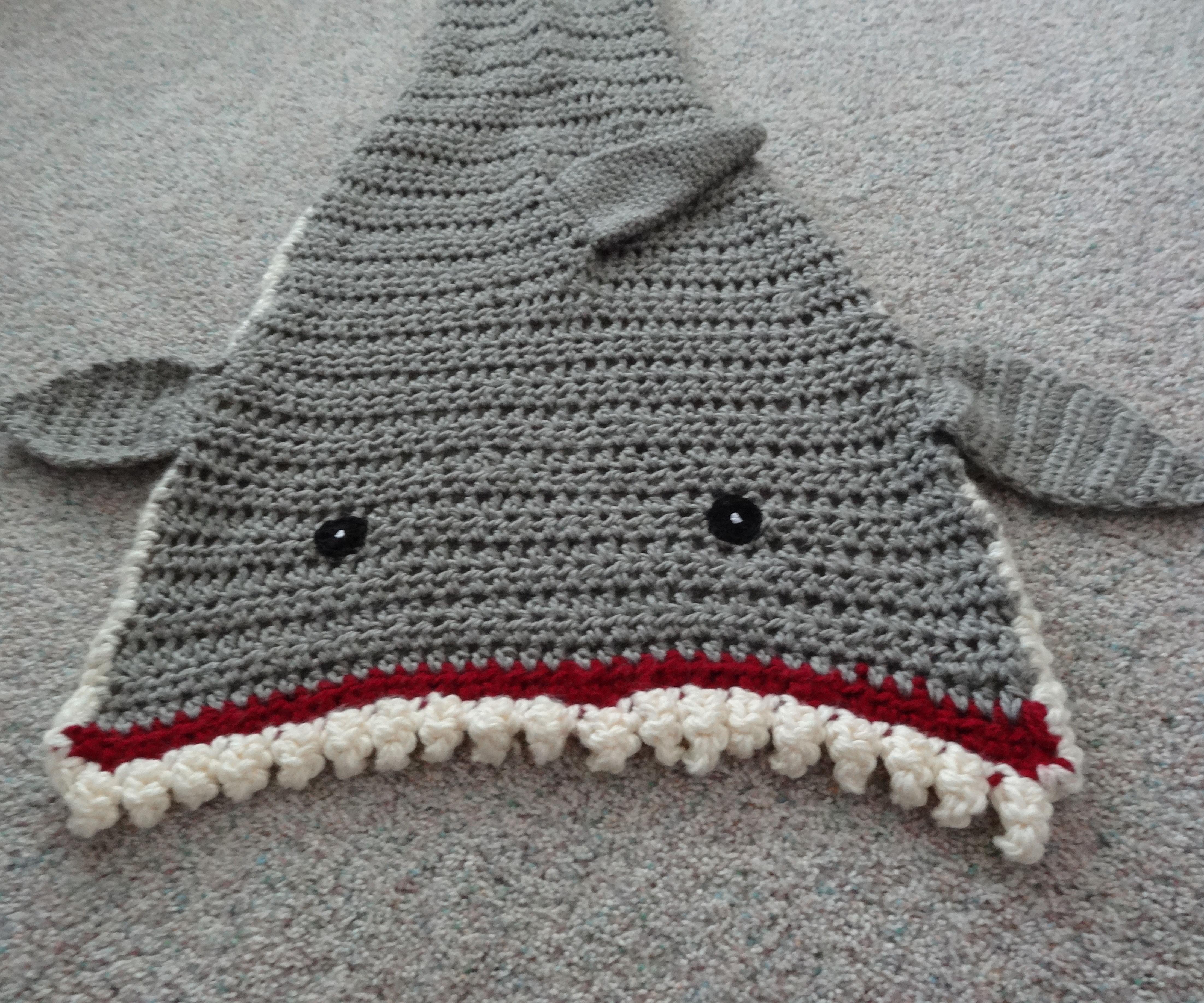 Crochet Shark Blanket