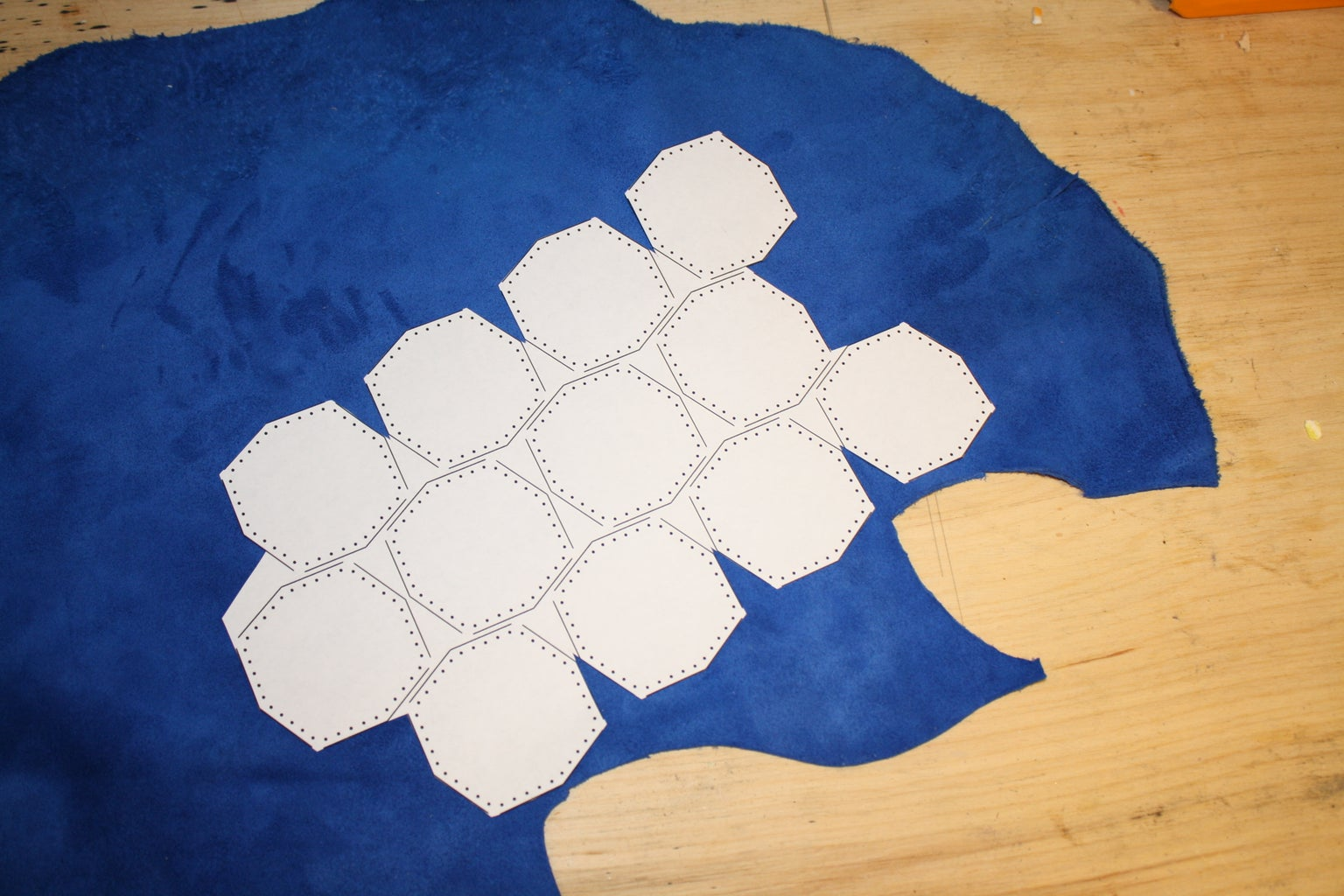 Attach Pattern to Leather