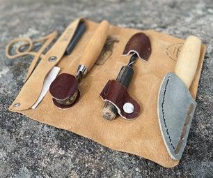 木雕工具卷起