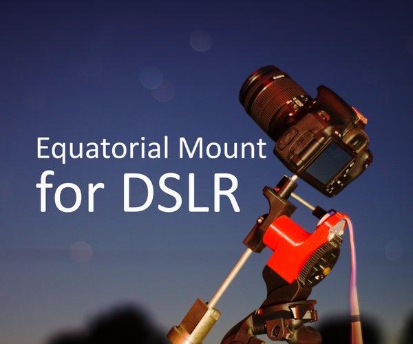 3D Adventurer [Equatorial Mount for DSLR]