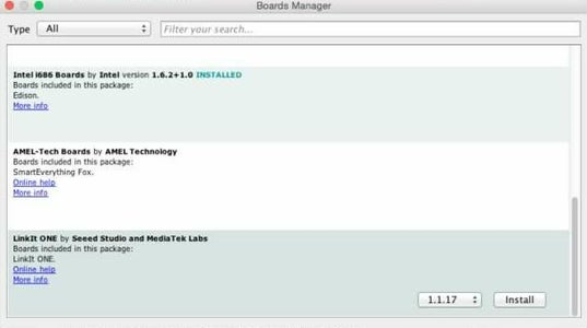 Install Linkit One Drivers