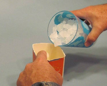 Fill Mold With Crushed Ice