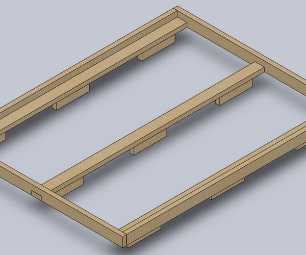 Simple 2x4 Bedframe