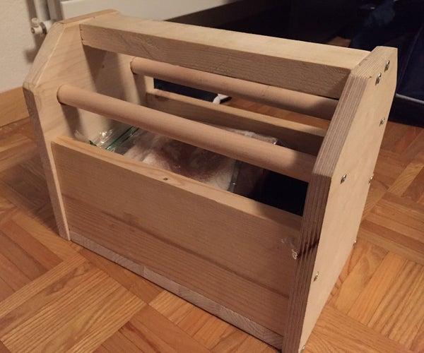 Wooden Shoe Shine Box