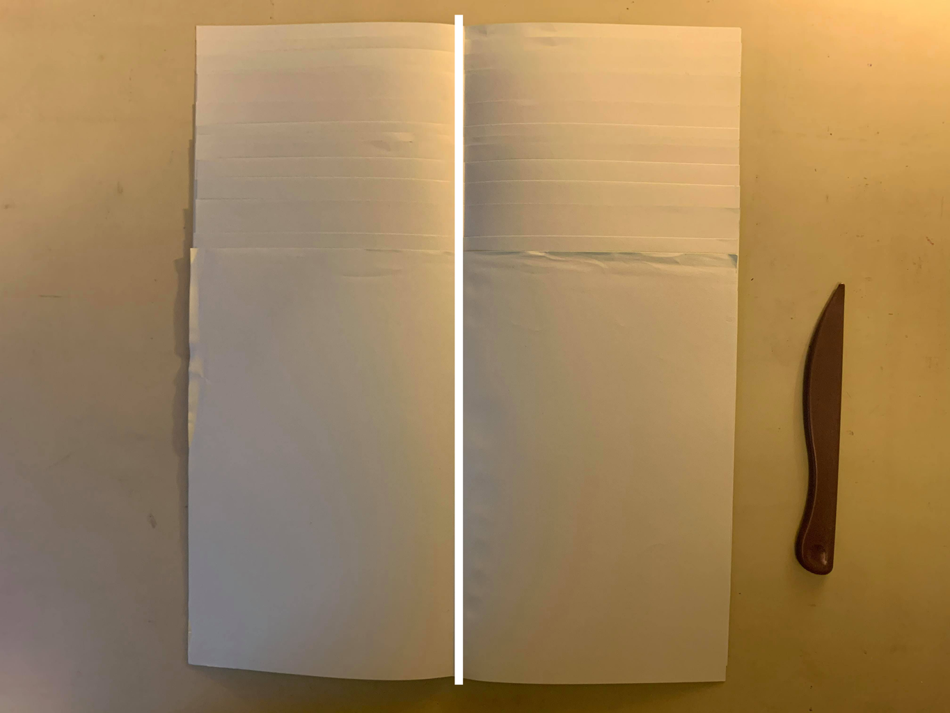 Fold Your Sheets Into a Single Stack of Signatures