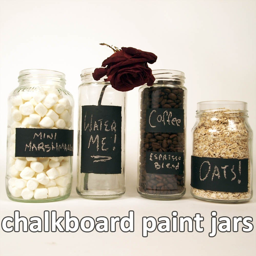 Chalkboard Paint Jars 5 Steps With Pictures Instructables